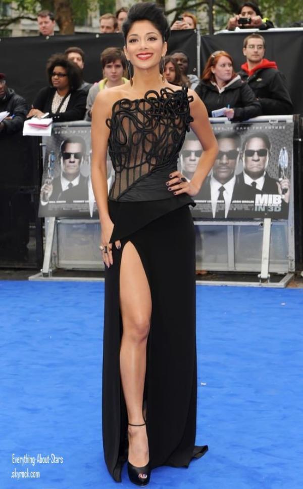 """Nicole Scherzinger et son chéri Lewis Hamilton a la première de """" Men In Black III """" à Londres  le 16 Mai 2012"""