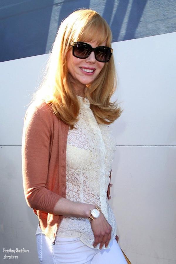 Nicole Kidman photographié alors qu'elle arrivée à l'aéroport de Nice, pour se rendre au festival de Cannes  le 22 Mai 2012