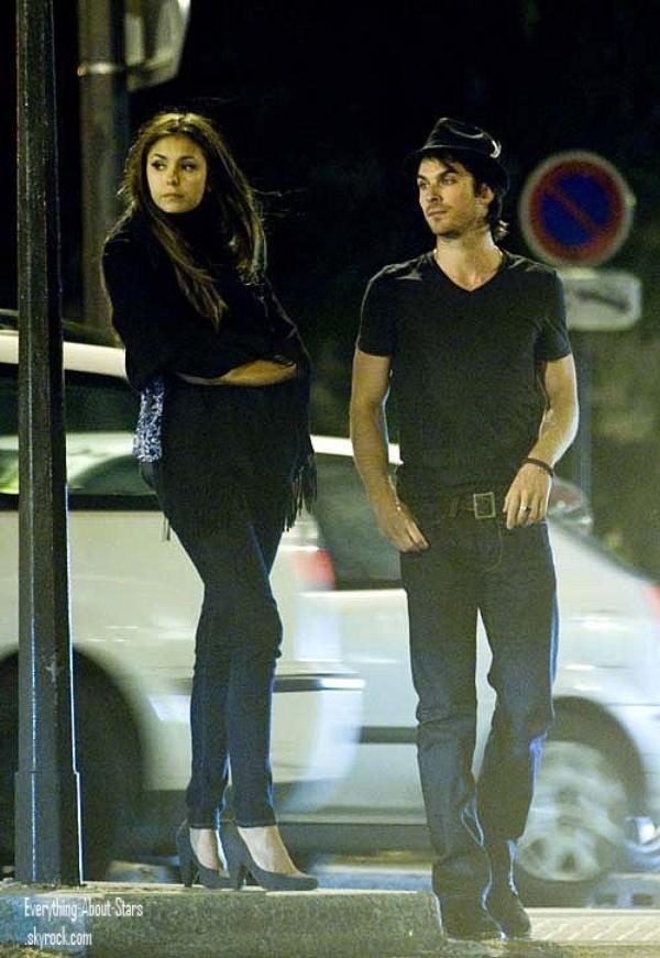 Nina Dobrev et son chéri Ian Somerhalder aperçue en amoureux à Paris.  le 25 Mai 2012