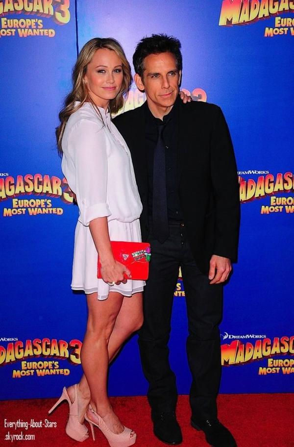 "Will Smith, Jada Pinkett Smith, Willow Smith, Ben Stiller et Jessica Chastain à la premiere de ""Madagascar 3"" au théâtre Ziegfeld à New York   le 8 Juin 2012"