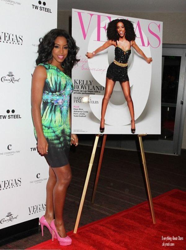 Kelly Rowland à célébrer sa couverture de magazine VEGAS, ainsi que le 9éme anniversaire du magazine   le 9 Juin 2012