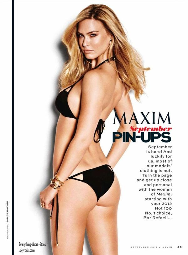 Bar Refali en couverture de MAXIM: