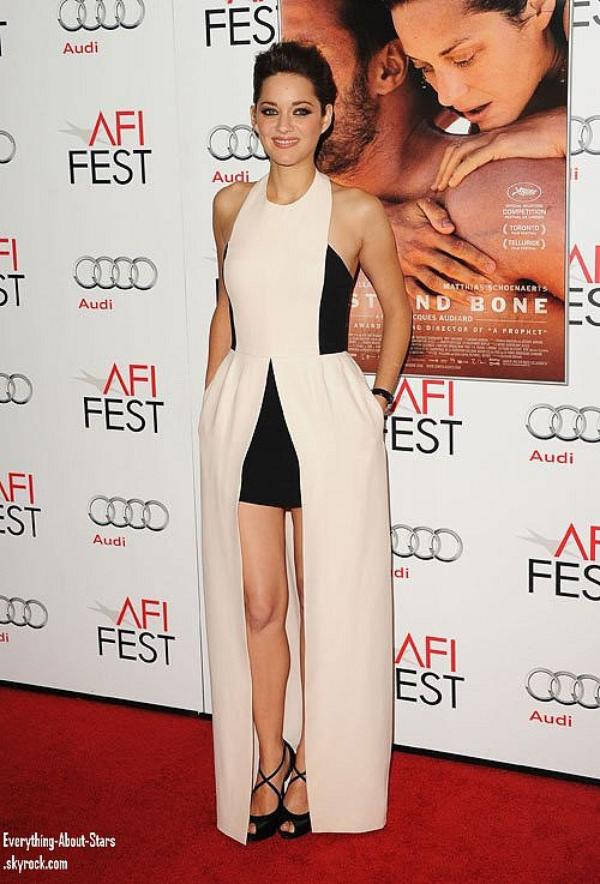 """Marion Cottilard fait la promo de son film """"de Rouille et d'Os"""" à Hollywood  le 5 Novembre 2012"""
