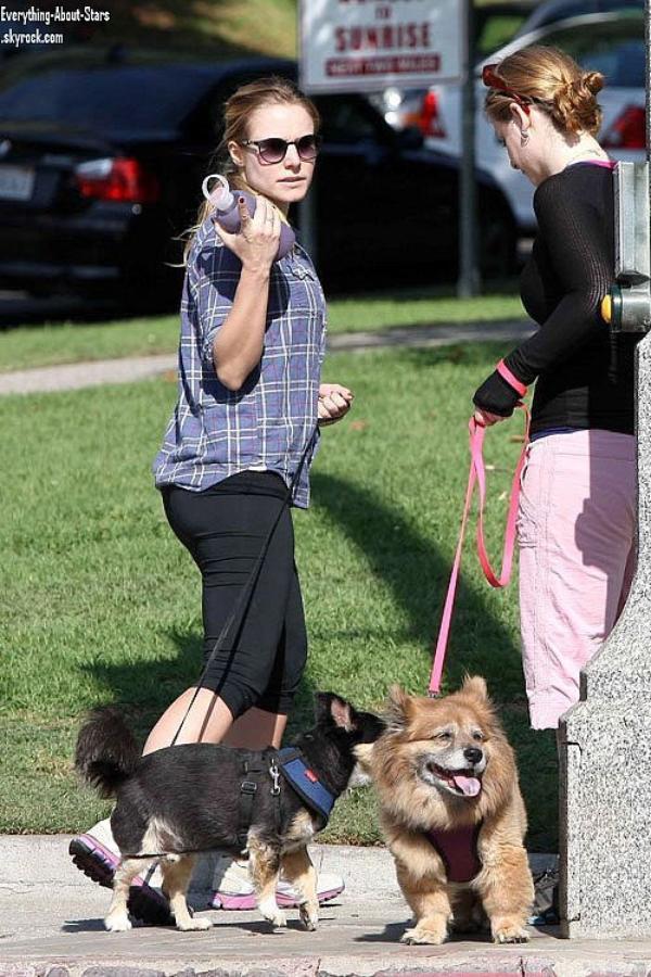 Kristen Bell aperçue en train de promener ses chiens à Los Feliz.  le 5 Novembre 2012
