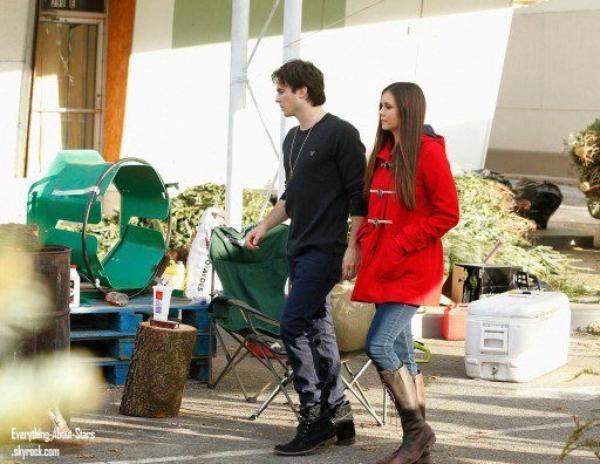 Nina Dobrev et Ian Somerhalder ont été aperçus allant acheter le sapin idéal pour Noel , à Atlanta  le 3 Décembre 2012
