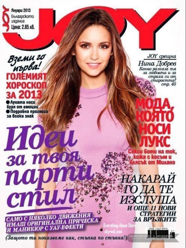 Nina Dobrev en couverture de Joy Magazine: