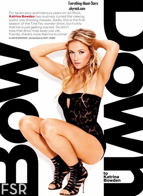 Katrina Bowden en couverture de MAXIM: