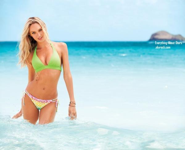 Candice Swanepoel en couverture du catalogue maillots de bain Victoria's Secret :