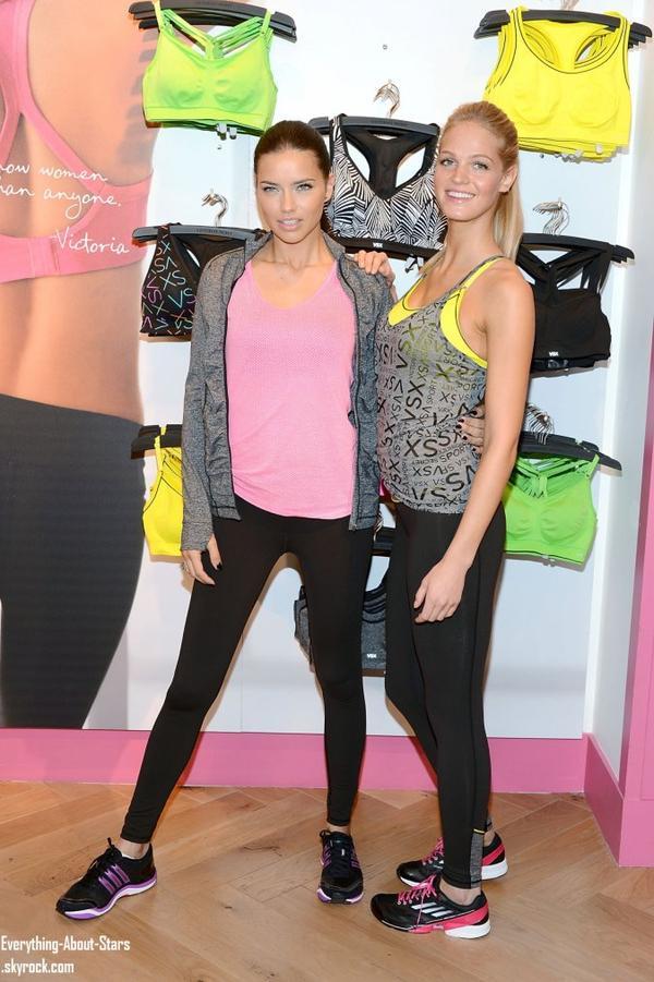 Adriana Lima et Erin Heatherton dans une boutique Victoria's Secret pour le lancement de la collection sport à  New-York .   Le 15 Janvier 2013