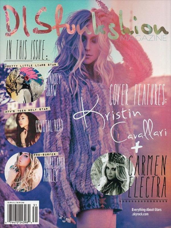 Kristin Cavallari en couverture du DISfunkshion Magazine