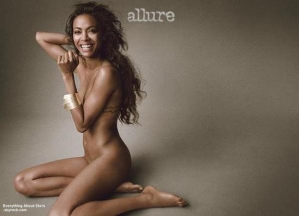 Zoe Saldana sublime,pose pour le magazine ALLURE