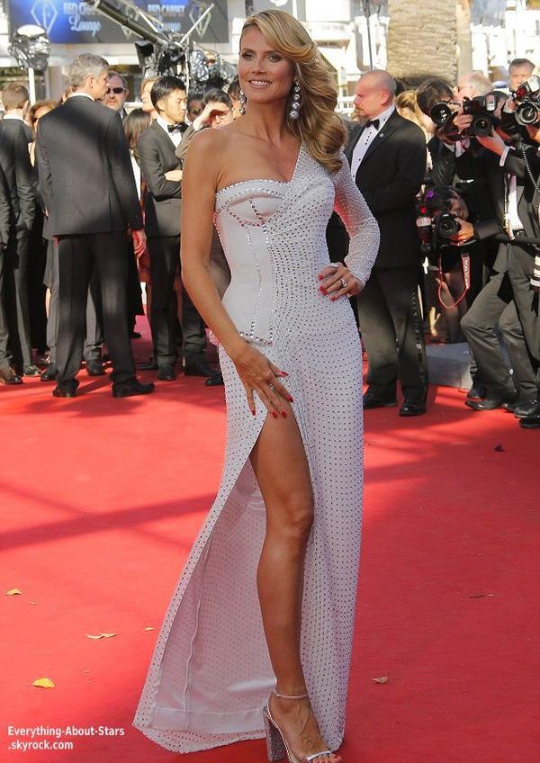 """Heidi Klum à assisté à la prémiere de """"Nebraska"""" au Festival de Cannes   Le 23 Mai 2013"""