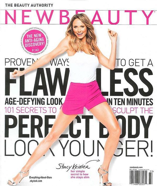 Stacey Keibler en couverture de New Beauty