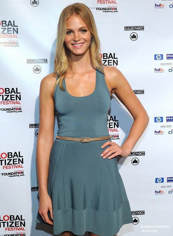 La sublime Erin Heatherton, s'est rendu au    Global Poverty Project 2013 Global Citizen Festival Press Conference  à New York  Le 11 Juillet 2013