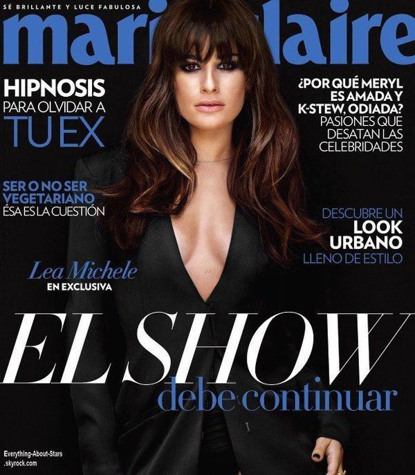 Lea Michele en couverture de Marie Claire