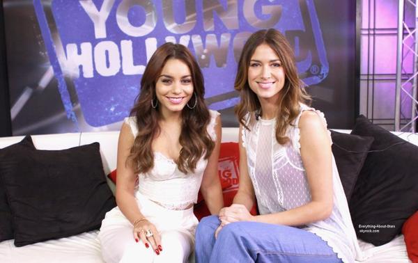 Vanessa Hudgens s'est rendu au Young Hollywood Studio à Los Angeles  Le 31 Juillet 2013