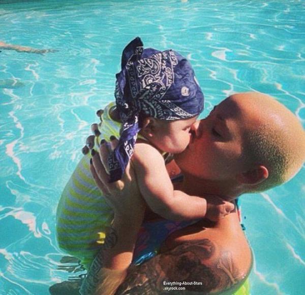 Photos du jour: Amber rose et son bébé Sebastian
