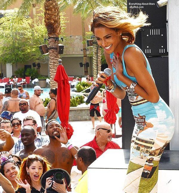 La belle Ciara à donné un concert au   Ditch Pool & Dayclub au  Palms Casino Resort à Las Vegas  Le 2 Août 2013