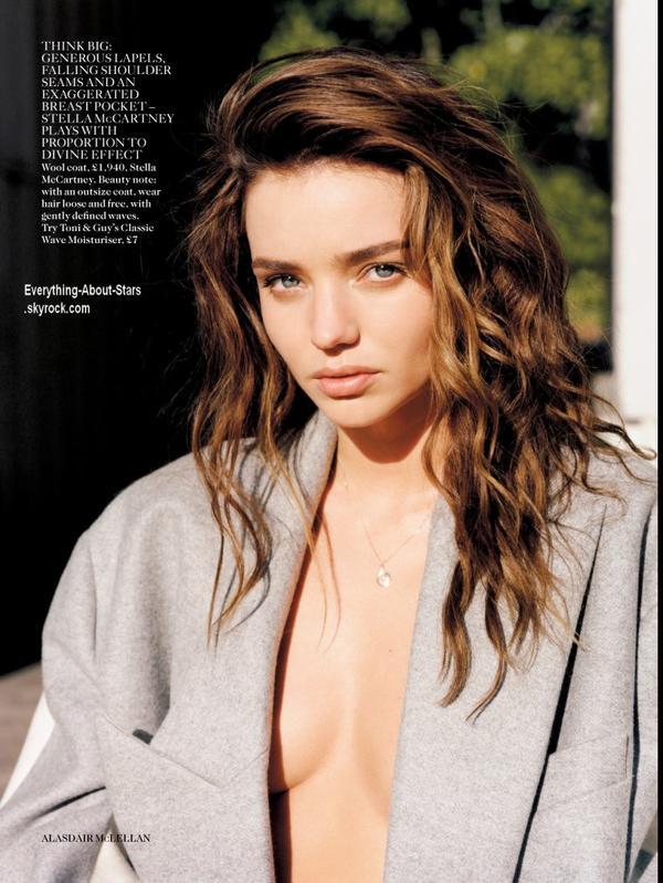 Miranda Kerr pose pour le magazine Vogue UK