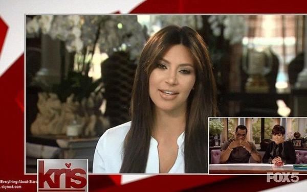 Kim Kardashian a décidé de faire son retour sur le petit écran pour féliciter le nouveau show télévisé de sa maman Kris Jenner