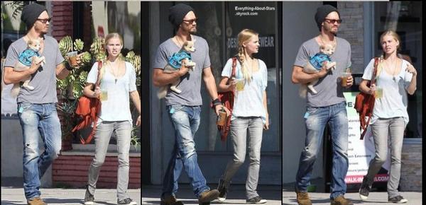 Chad Michael Murray et sa fiancé Kenzie Dalton se sont rendus au starbucks à Studio City  Le 3 Août 2013