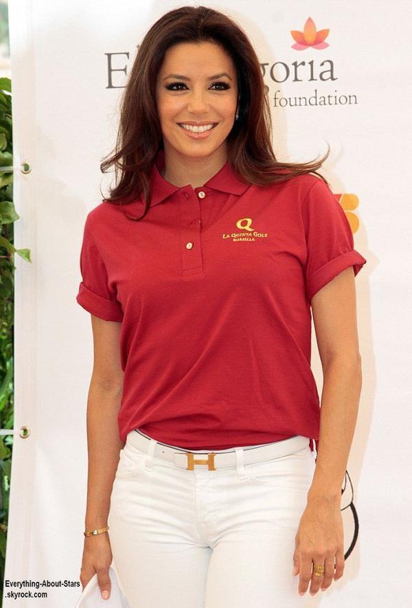 Eva Longoria,  présidente d'honneur du Global Gift Philanthropic Week-End, un gala de charité qui organise des tournois de sport afin de lever des fonds  Le 3 Août 2013