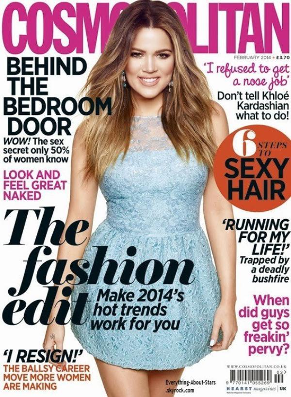 Khloé Kardashian en couverture de COSMOPOLITAN