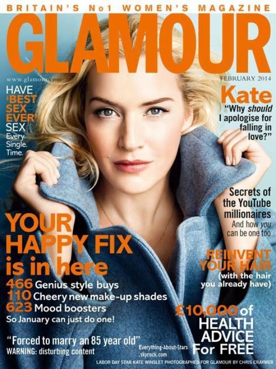 Kate Winslet en couverture de GLAMOUR