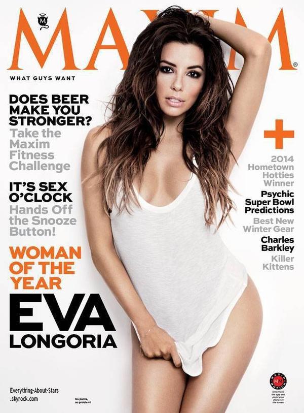 Eva Longoria en couverture de MAXIM Magazine