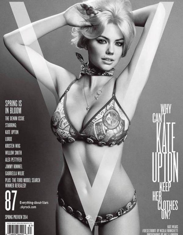 Kate Upton pose pour V Magazine