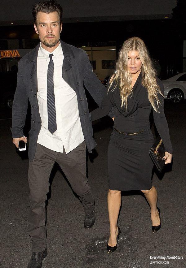 10/01/14: Josh Duhamel et Fergie sont allés dîner en amoureux au restaurant Mr. Chow de Beverly Hills, pour fêter leur 5 ans de mariage
