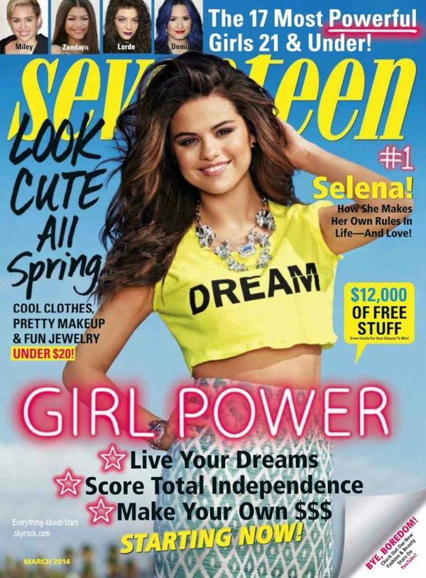 Selena Gomez en couverture de Seventeen