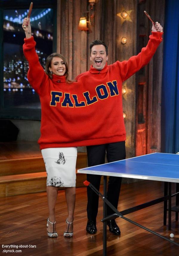 "Jessica Alba, invité à l'emission ""Late Night With Jimmy Fallon""  à New York"