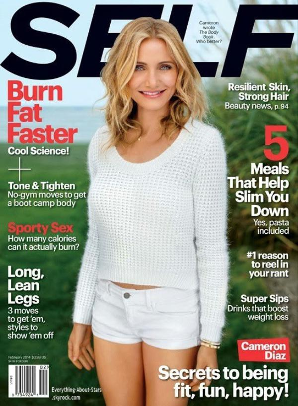 Cameron Diaz en couverture de SELF MAGAZINE