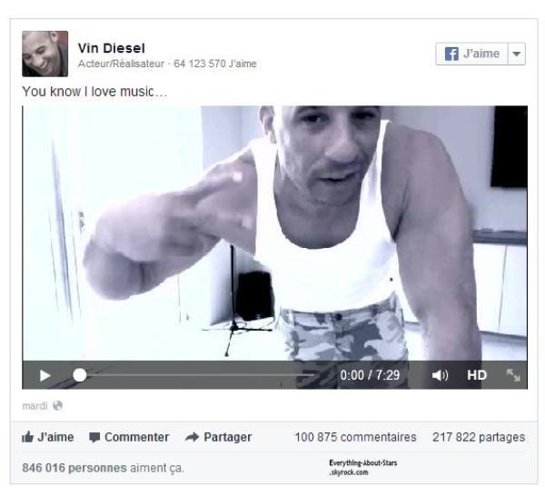 Vin Diesel: Il enflamme le Web, en dansant sur les tubes de Katy Perry et Beyonce