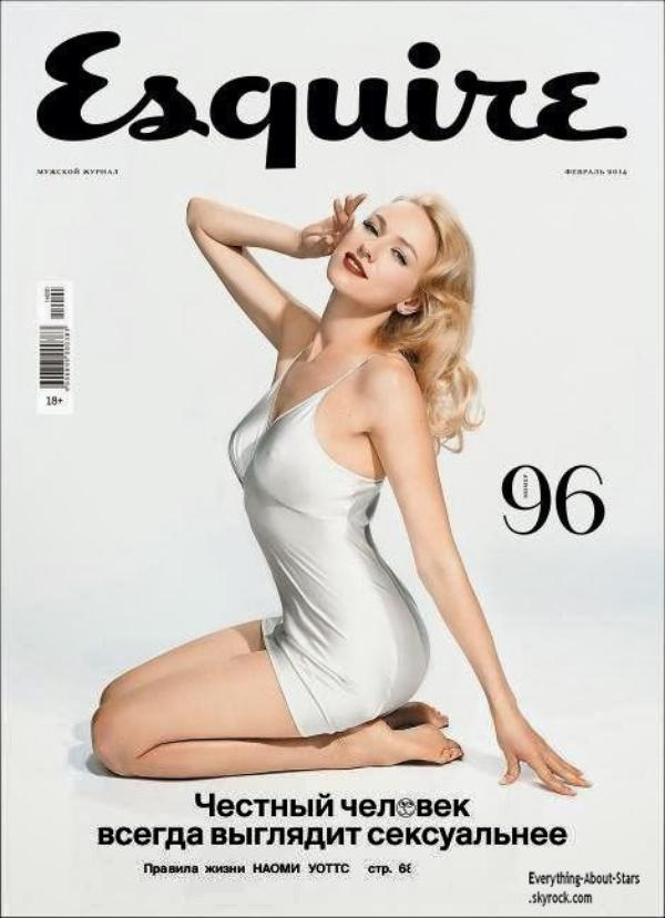 Naomi Watts en couverture de ESQUIRE MAGAZINE