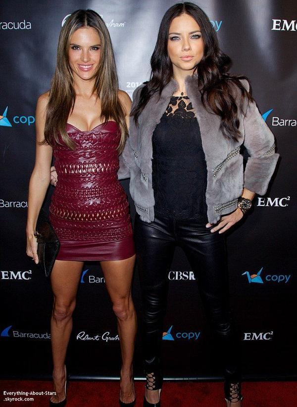 Alessandra Ambrosio et Adriana Lima sur le tapis rouge lors de la soirée  Leather & Laces qui s'est tenu à New York