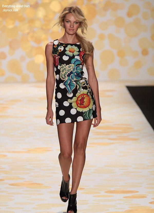 06/02/14: Candice Swanepoel est la nouvelle égerie de DESIGUAL, elle a notamment défilé lors du Fashion Show Desigual à New York