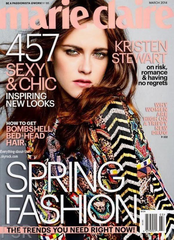 Kristen Stewart en couverture de MARIE CLAIRE