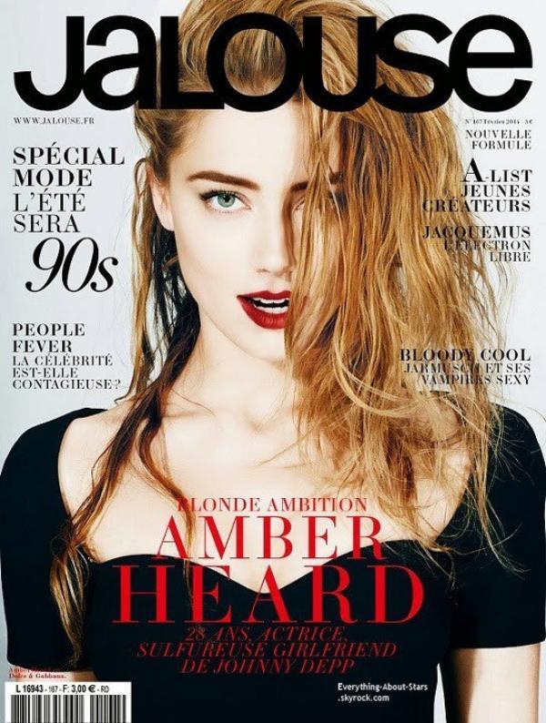 Amber Heard en couverture de JALOUSE MAGAZINE