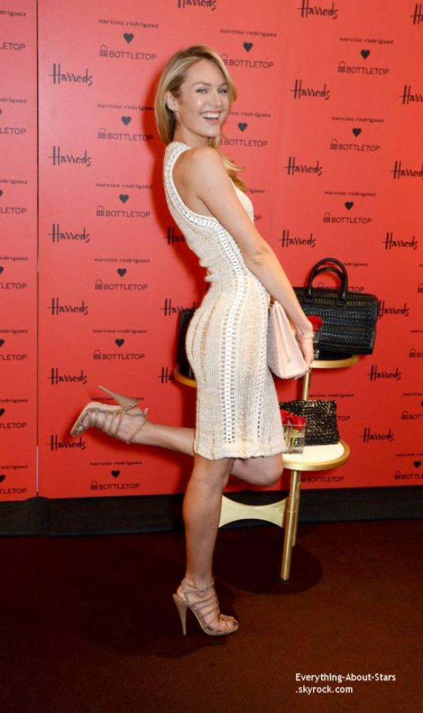 11/02/14: Candice Swnaepoel lors de l'événement de la marque de sac Bottletop à Londres