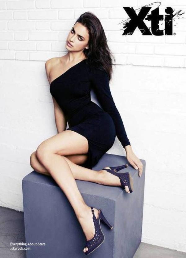 Irina Shayk pose pour la célèbre marque XTI