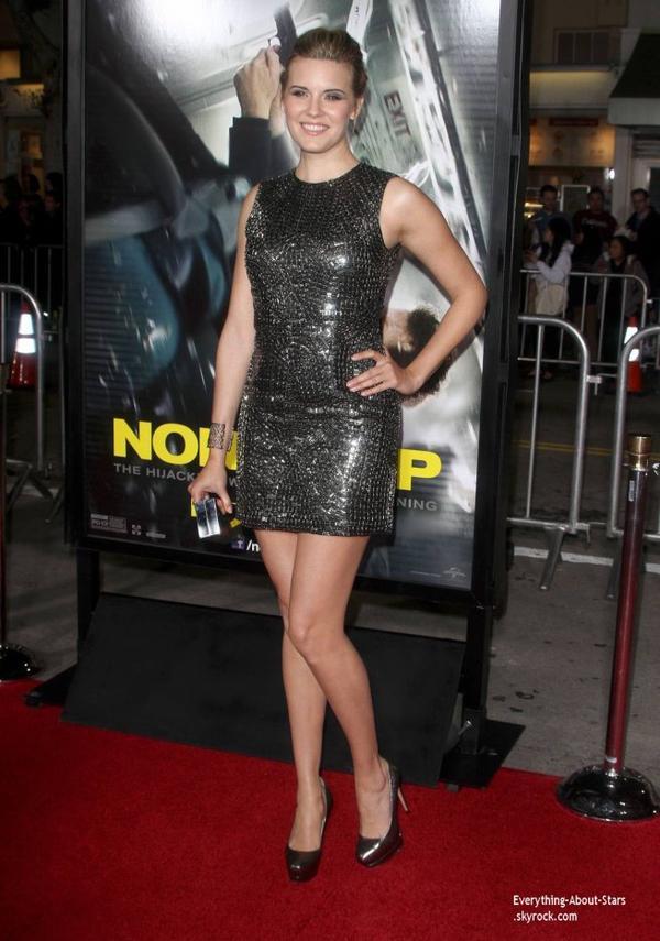 """Maggie Grace à la première de """"Non Stop"""" à Los Angeles"""