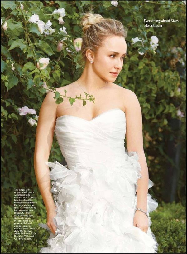 Hayden Panettiere en couverture de Brides Magazine