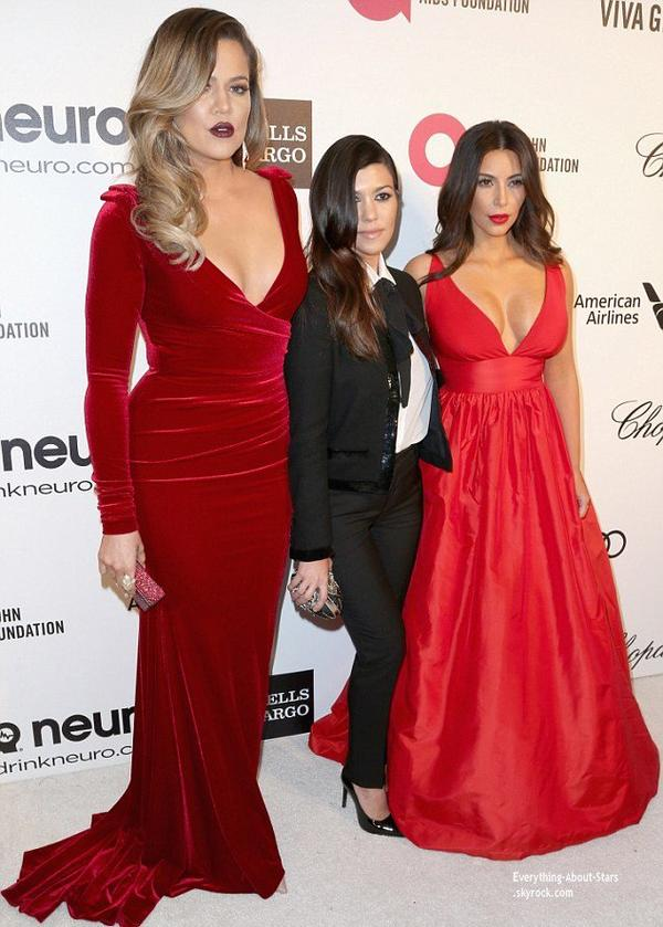 OSCAR 2014: Kim Kardashian et sa famille sur le tapis rouge dela traditionnelle soirée annuelle organisée par Elton John, pour lever les prochains fonds qui financeront la recherche contre le Sida   Cérémonie, Tapis rouge, Palmarés, Récompense, Vidéos, Backstage, Instagram et After Party