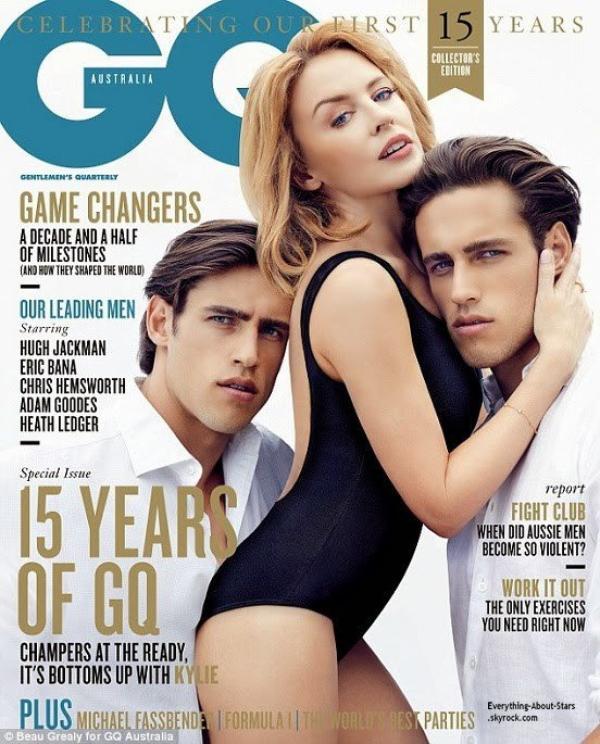 Kylie Minogue en couverture de GQ MAGAZINE