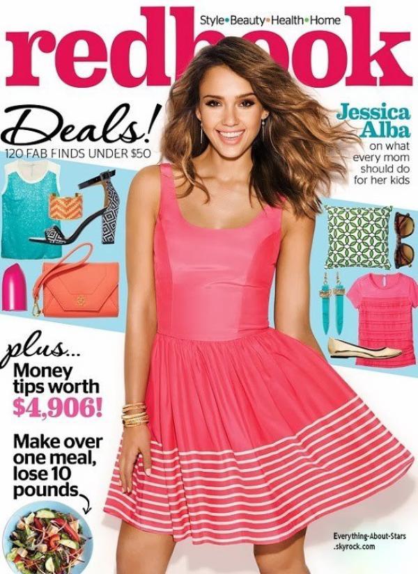 Jessica Alba en couverture de REDBOOK