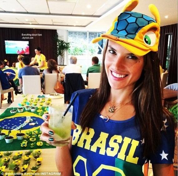Découvez les People qui soutiennent leur équipe favorite lors de la Coupe Du Monde 2014