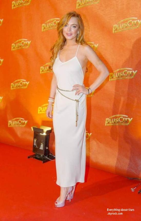 26/07/14: Lindsay Lohan prend la pose lors de la soirée  2014 White Festival en Autriche