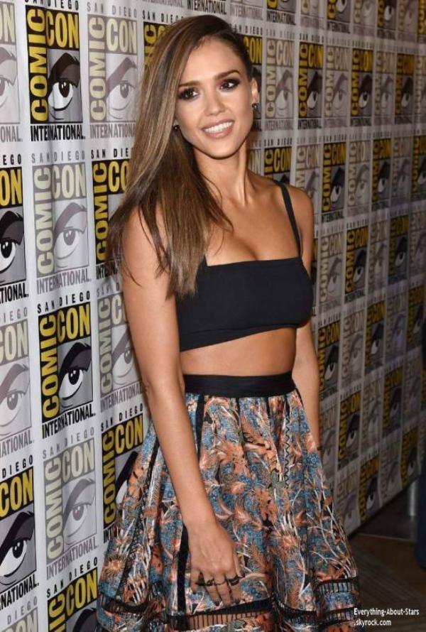 26/07/14: Jessica Alba éblouissante au festival Comic-Con pour son nouveau film  Sin City: A dame to kil for  à San Diego